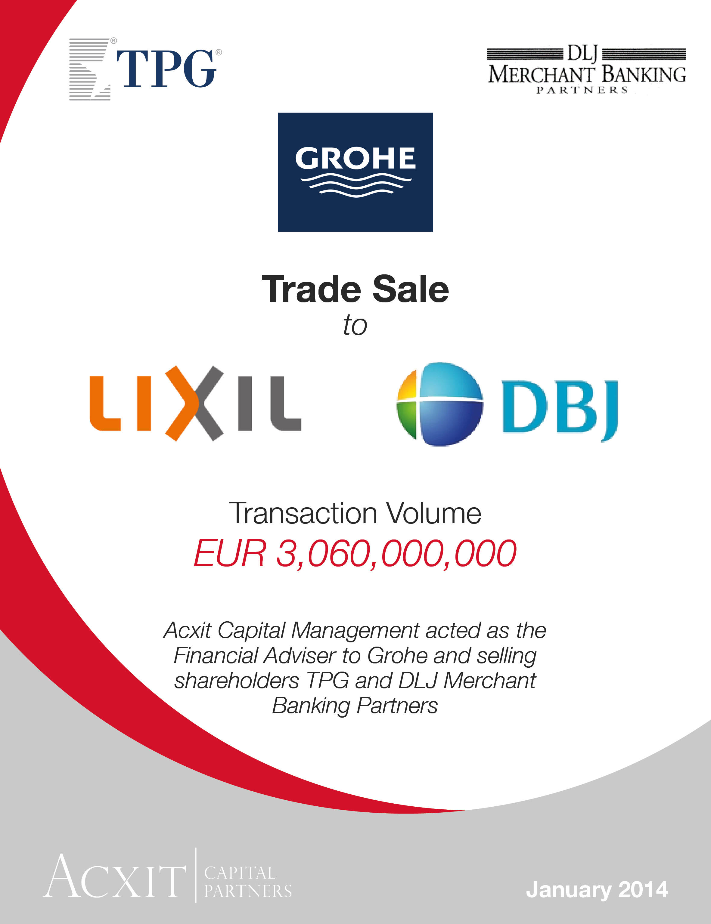 Grohe sold to LIXIL - ACXIT Capital Partners