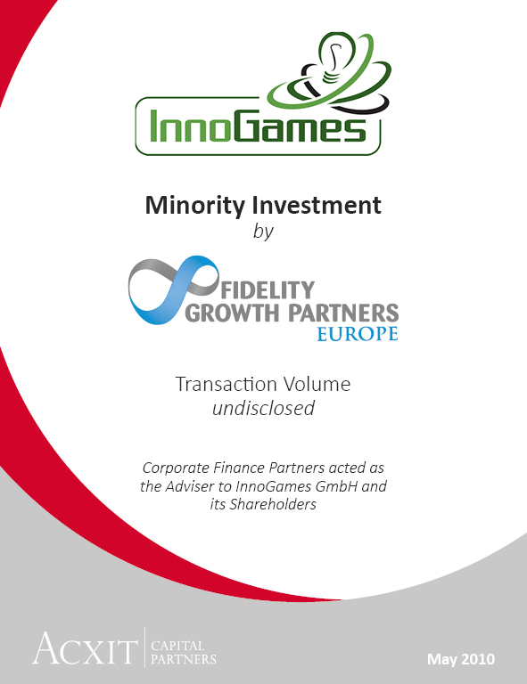 Fidelity Growth Partners Invests in InnoGames' Future