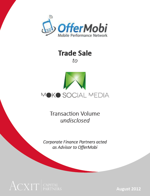 MOKO mobi Acquires OfferMobi - ACXIT Capital Partners