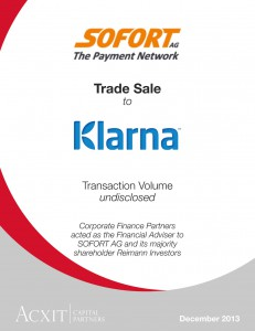 Acxit-Capital-Partners_Tombstone_Sofort-Klarna_-Dec-2013_CFP