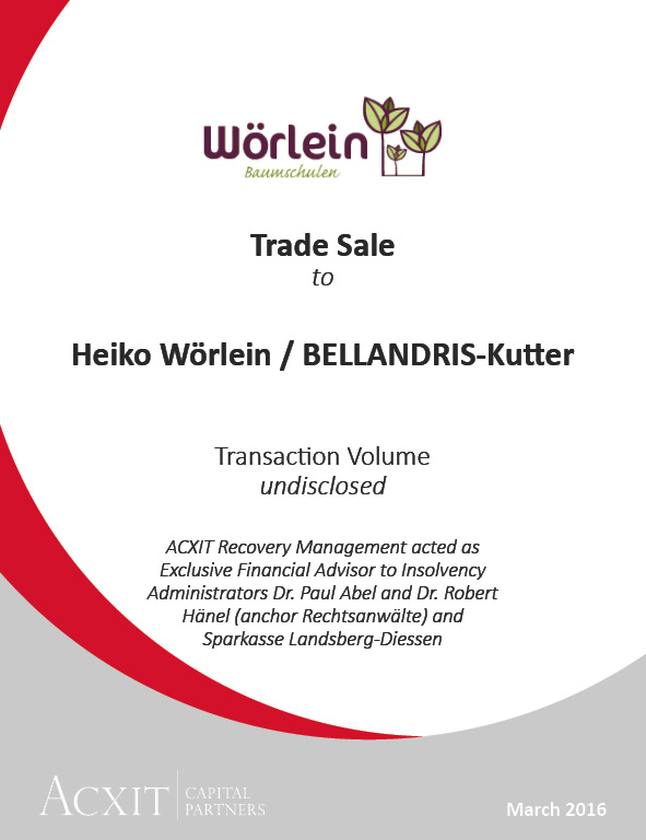 Sales process Wörlein successfully completed