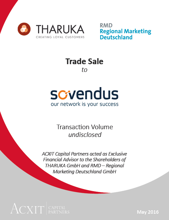 THARUKA and RMD sold to Sovendus