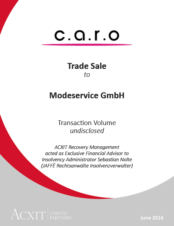 Sound core of c.a.r.o. GmbH continues to operate