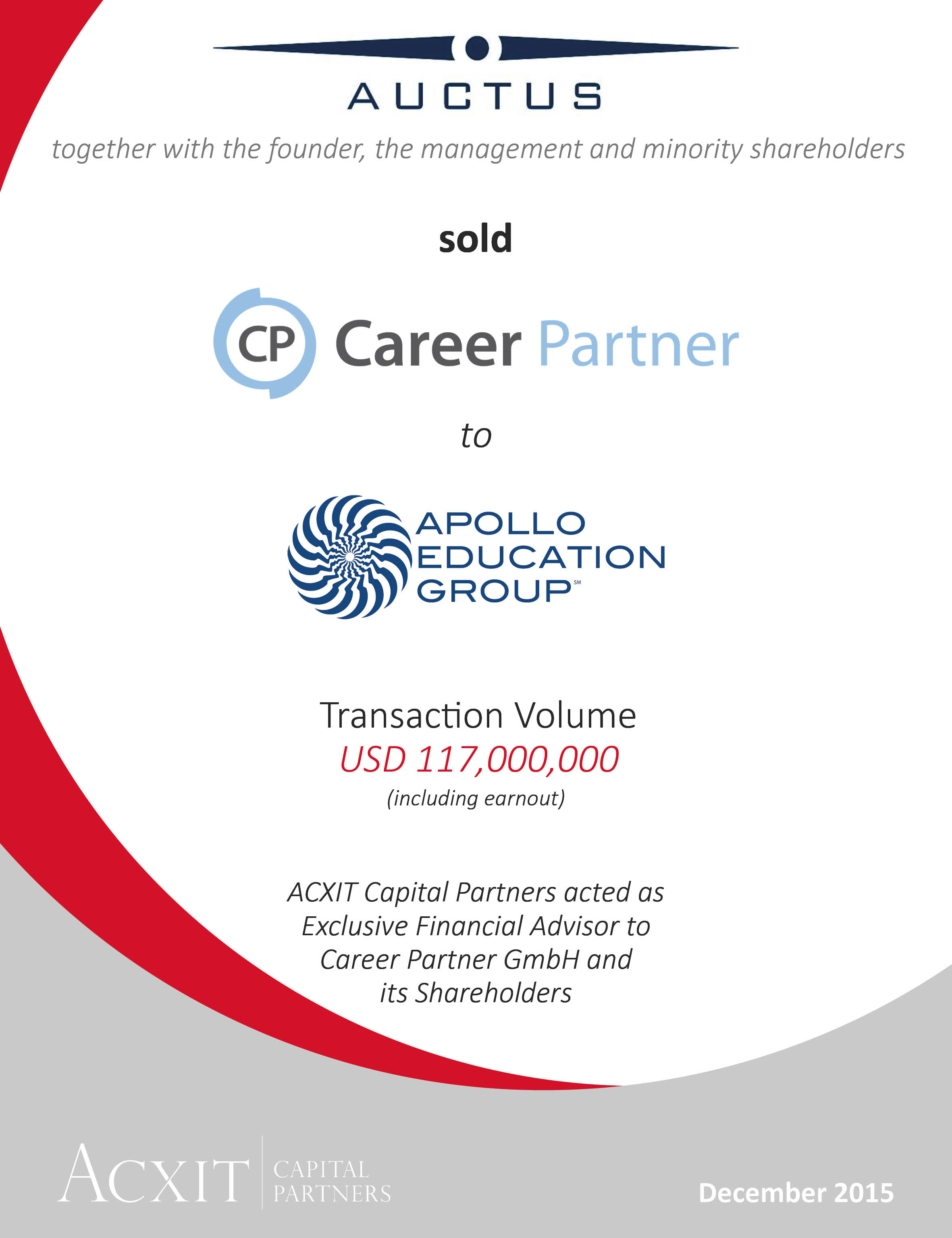Trade Sale of Career Partner to Apollo Global