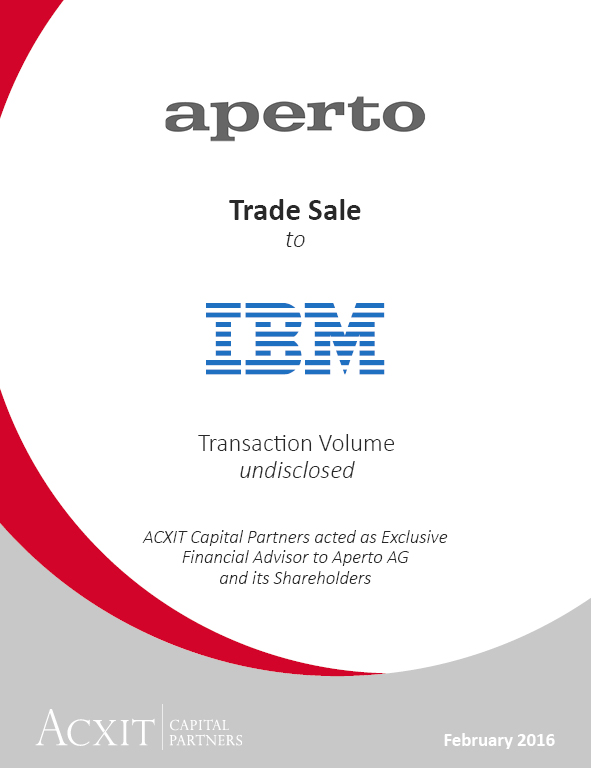 IBM Signs Agreement to Acquire Aperto