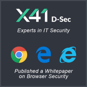 X41 D-Sec GmbH releases Browser Security White Paper