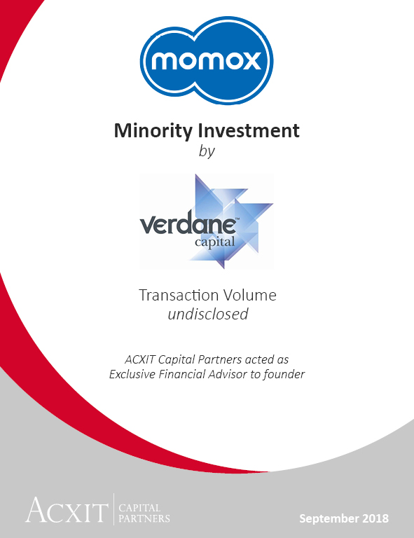 Recommerce market leader momox attracts experienced e-commerce investor Verdane