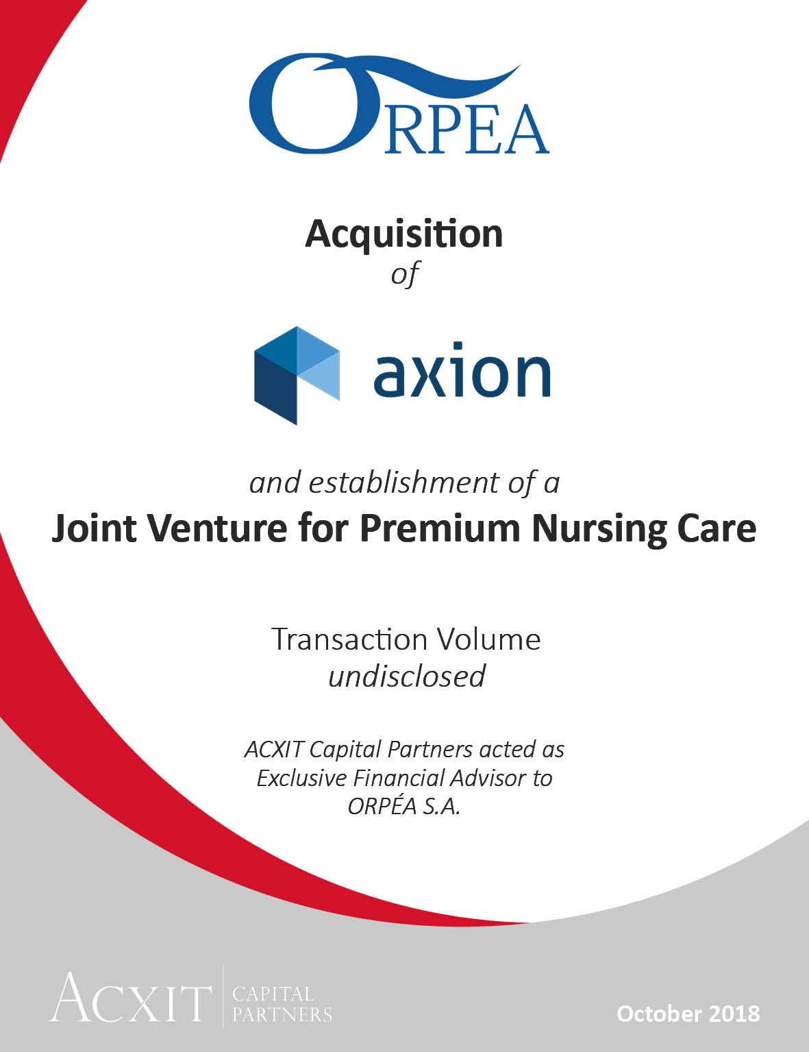 Acquisition of Axion Group by Orpea