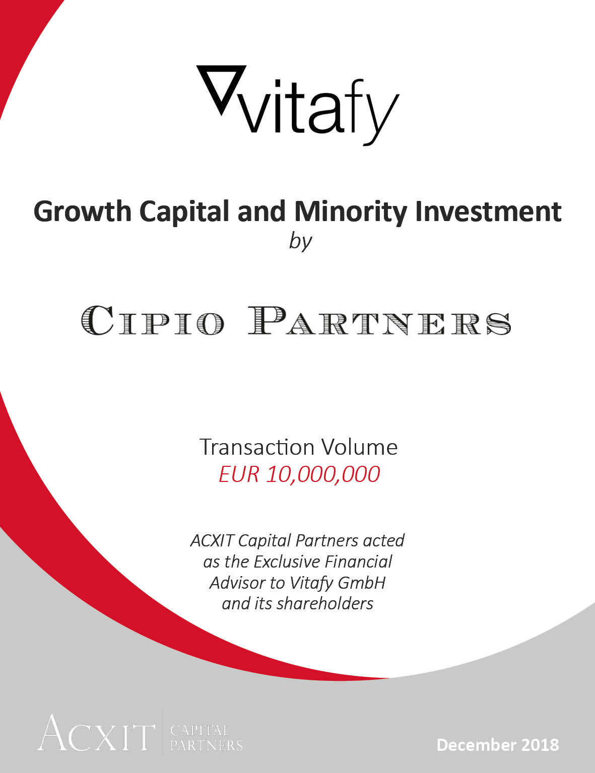 VITAFY secures investment from Cipio Partners