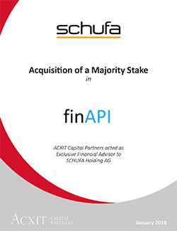 Fit for future business: SCHUFA acquired a majority stake in finAPI GmbH