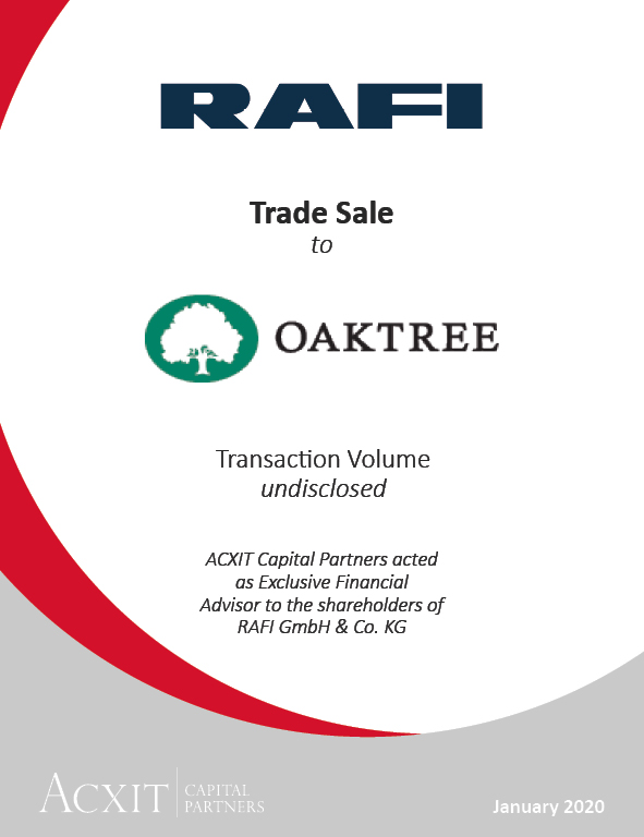 Trade Sale of RAFI GmbH & Co. KG to Oaktree