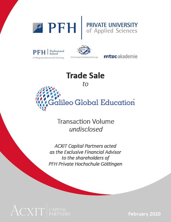 Transfer of Private Hochschule Göttingen (PFH) to Galileo Global Education